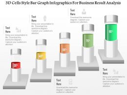 1214 3d Cells Style Bar Graph Infographics For Business Result Analysis Powerpoint Template