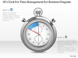 1214 3d Clock For Time Management For Business Diagram Powerpoint Template