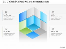 1214 3d Colorful Cubes For Data Representation Powerpoint Template