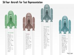 1214 3d Four Aircraft For Text Representation Powerpoint Template