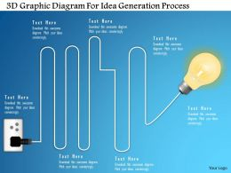 1214 3d Graphic Diagram For Idea Generation Process Powerpoint Template