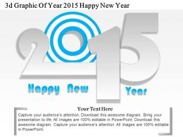 1214 3d Graphic Of Year 2015 Happy New Year Powerpoint Template