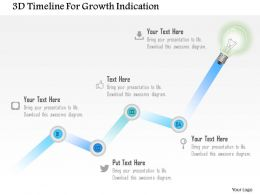 1214 3d Timeline For Growth Indication Powerpoint Template
