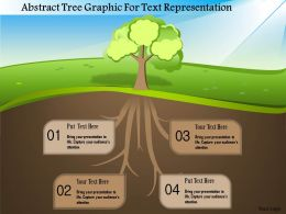 1214 Abstract Tree Graphic For Text Representation PowerPoint Template