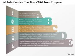 1214 Alphabet Vertical Text Boxes With Icons Diagram Powerpoint Template