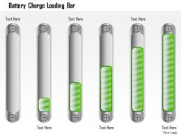 1214 Battery Charge Loading Bar Powerpoint Presentation