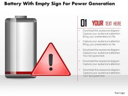 1214 Battery With Empty Sign For Power Generation Powerpoint Slide
