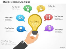 1214 Business Icons And Signs PowerPoint Presentation