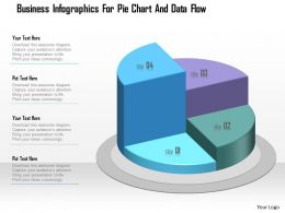 1214 Business Infographics For Pie Chart And Data Flow Powerpoint Template