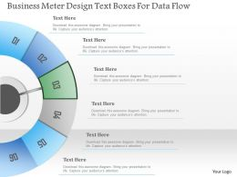 1214 Business Meter Design Text Boxes For Data Flow Powerpoint Template