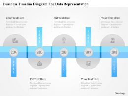 1214 Business Timeline Diagram For Data Representation Powerpoint Template