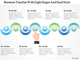 1214 Business Timeline With Eight Stages And Snail Style PowerPoint Template