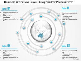 1214 Business Workflow Layout Diagram For Process Flow PowerPoint Template