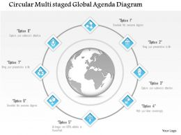 1214 Circular Multistaged Global Agenda Diagram Powerpoint Template