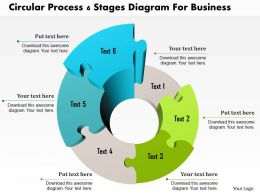 1214 Circular Process 6 Stages Diagram For Business PowerPoint Template