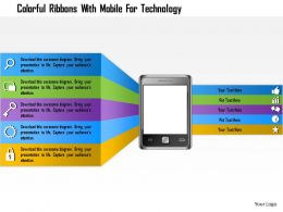 1214_colorful_ribbons_with_mobile_for_technology_powerpoint_template_Slide01