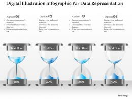 1214 Digital Illustration Infographic For Data Representation Powerpoint Template