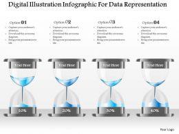 1214 Digital Illustration Infographic For Data Representation Powerpoint Template