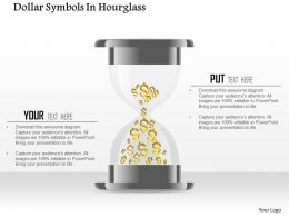1214 Dollar Symbols In Hourglass Powerpoint Template