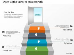 1214 Door With Stairs For Success Path Powerpoint Template