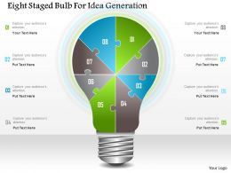 1214 Eight Staged Bulb For Idea Generation Powerpoint Template