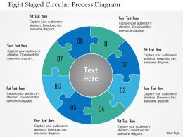 1214 Eight Staged Circular Process Diagram Powerpoint Template