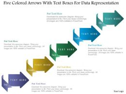 1214 Five Colored Arrows With Text Boxes For Data Representation Powerpoint Template