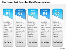 1214 Five Linear Text Boxes For Data Representation Powerpoint Template