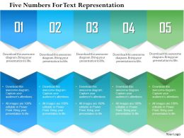 1214 Five Numbers For Text Representation PowerPoint Presentation