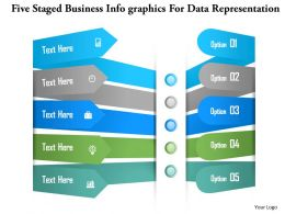 1214 Five Staged Business Infographics For Data Representation Powerpoint Template