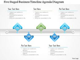 1214 Five Staged Business Timeline Agenda Diagram PowerPoint Template
