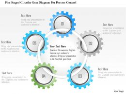 1214 Five Staged Circular Gear Diagram For Process Control Powerpoint Template