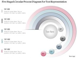 1214 Five Staged Circular Process Diagram For Text Representation Powerpoint Template