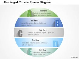 1214 Five Staged Circular Process Diagram Powerpoint Template