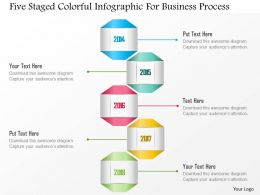 1214 Five Staged Colorful Infographic For Business Process PowerPoint Template