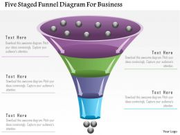 1214 Five Staged Funnel Diagram For Business Powerpoint Template
