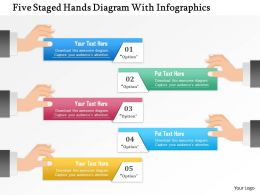 1214 Five Staged Hands Diagram With Infographics PowerPoint Presentation