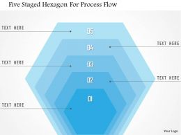 1214 Five Staged Hexagon For Process Flow PowerPoint Template