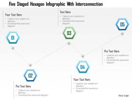 1214 Five Staged Hexagon Infographic With Interconnection Powerpoint Template