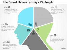 1214 Five Staged Human Face Style Pie Graph Powerpoint Template