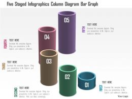 1214 Five Staged Infographics Column Diagram Bar Graph Powerpoint Template
