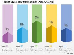 1214 Five Staged Infographics For Data Analysis Powerpoint Template