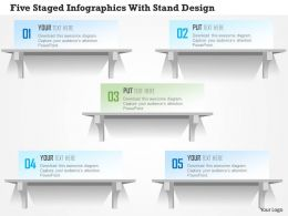 1214 Five Staged Infographics With Stand Design Powerpoint Template