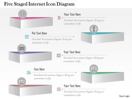 1214 Five Staged Internet Icon Diagram Powerpoint Template