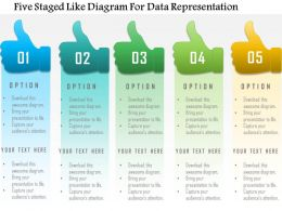 1214 Five Staged Like Diagram For Data Representation Powerpoint Template