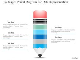1214 Five Staged Pencil Diagram For Data Representation Powerpoint Slide