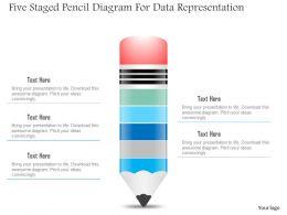 1214_five_staged_pencil_diagram_for_data_representation_powerpoint_slide_Slide01