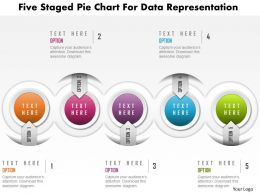 1214 Five Staged Pie Chart For Data Representation Powerpoint Template