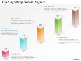 1214 Five Staged Step Process Diagram Powerpoint Template