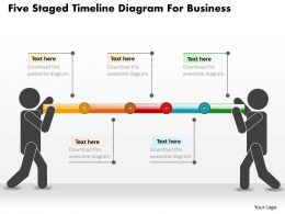 1214 Five Staged Timeline Diagram For Business Powerpoint Slide